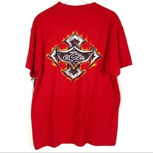NWT Orange County Choppers Red Tee Size La…